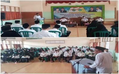 Pembinaan Kakan Kemenag lingkup MTsN 1 Lombok Tengah